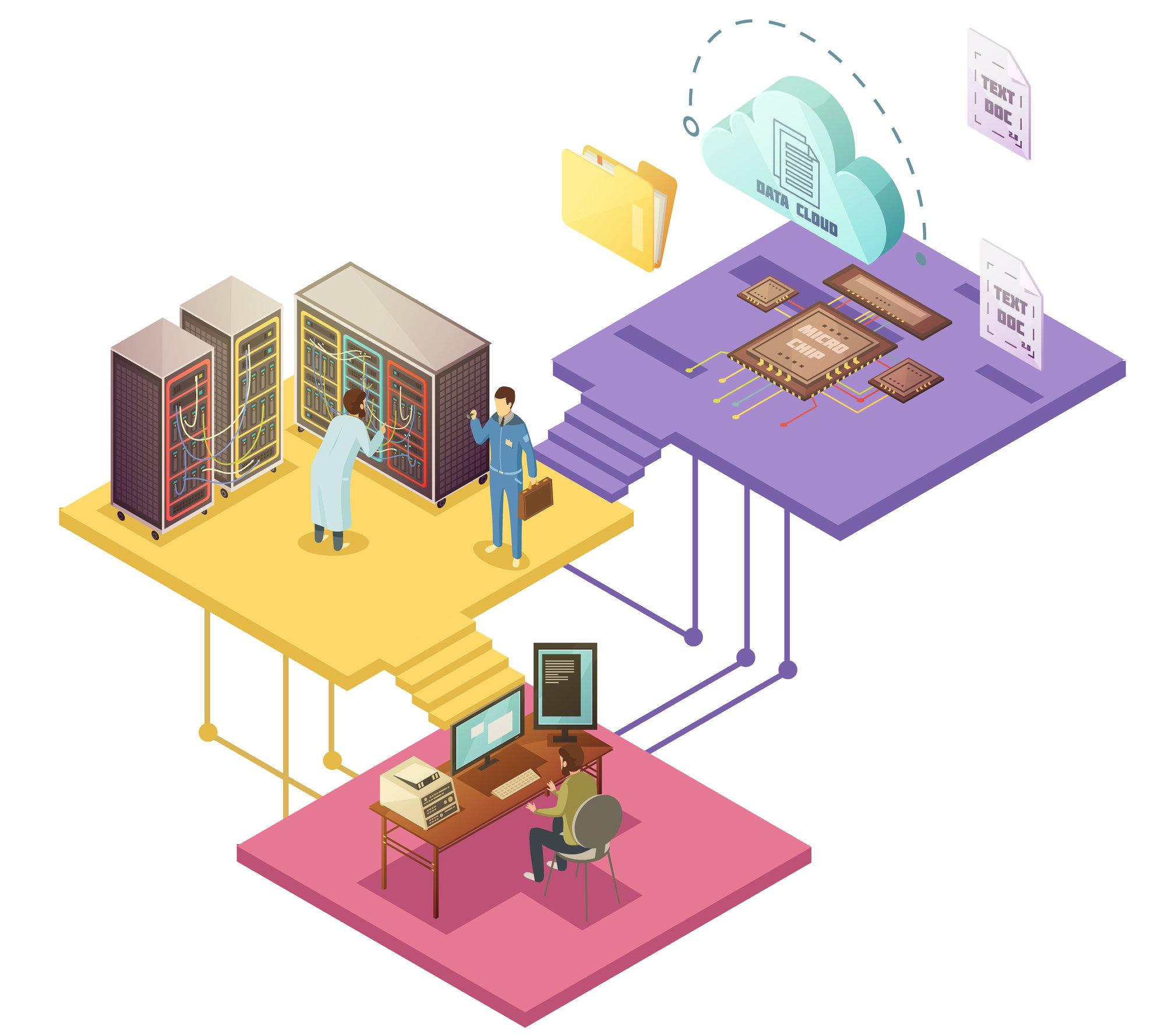 Quais as diferenças entre servidor virtual privado e cloud computing?